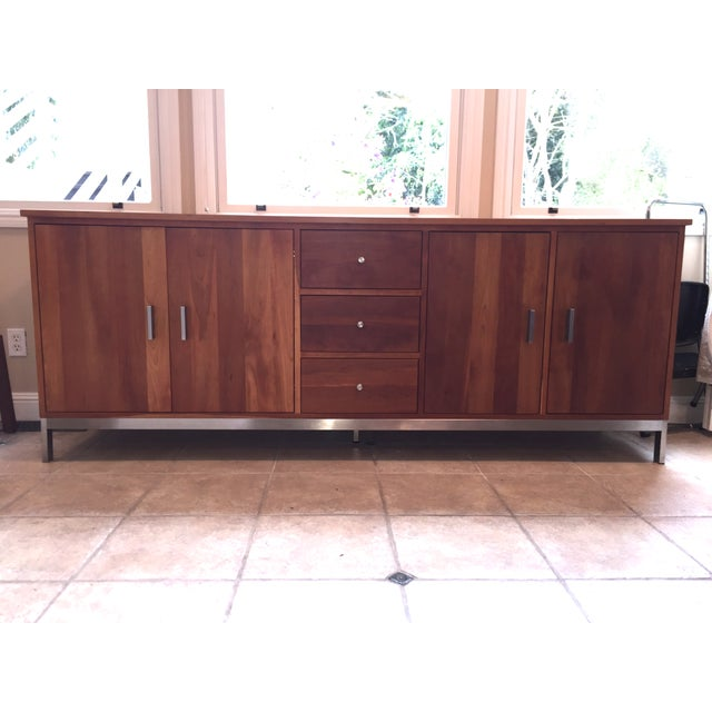 Room & Board Cherry Wood Custom Credenza - Image 2 of 10