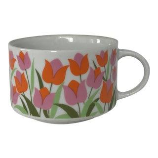 Ceramic Tulip Pattern Coffee / Tea Cup