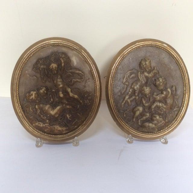 Antique Wax Cherub Reliefs - A Pair - Image 3 of 9