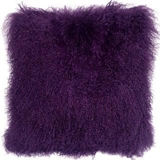 Purple Mongolian Sheepskin Pillow