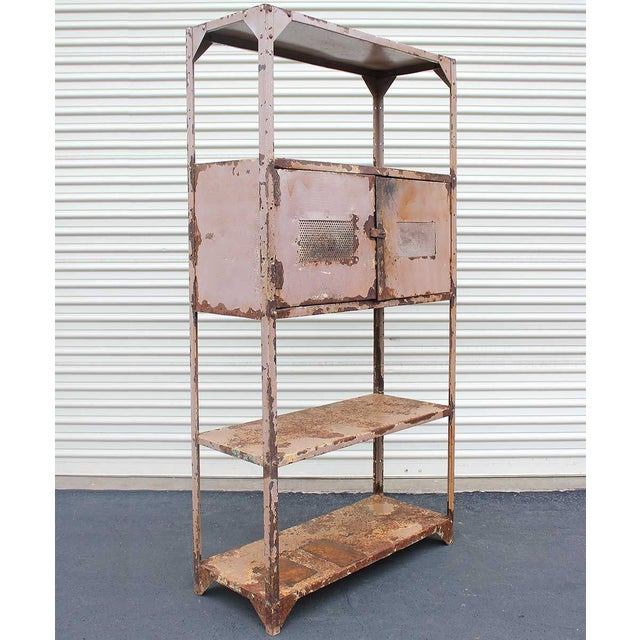 Vintage Industrial Mauve Iron Rack - Image 3 of 6