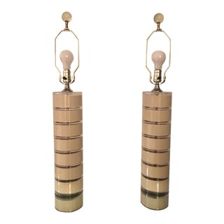 70's Optique Staced Lamps - A Pair