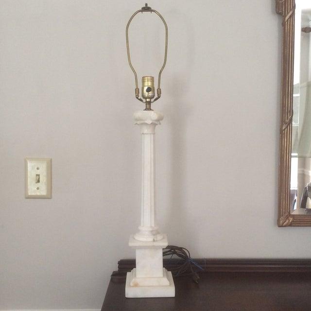Alabaster Column Lamp - Image 2 of 9