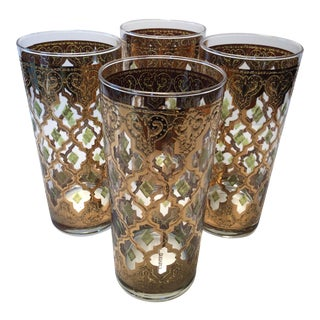 Mid-Century Culver Highball Glasses Valencia - Set of 4
