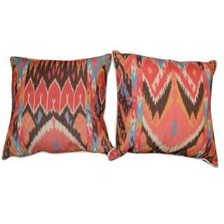 Ikat Pillows - A Pair