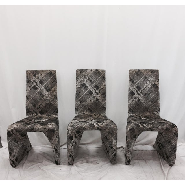 Futuristic Gray Swan Chairs - Set of 3 - Image 3 of 9