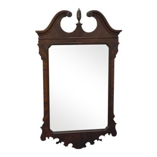 Drexel Heritage Heirlooms Flame Mahogany Chippendale Style Wall Mirror