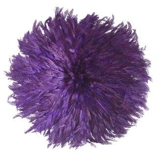 JuJu African Feather Headdress - Purple