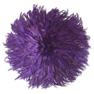 JuJu African Feather Headdress - Purple