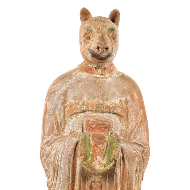 Antique Chinese Zodiac Rat Figurine - Image 7 of 9