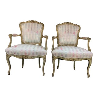 Vintage French Arm Chairs - A Pair