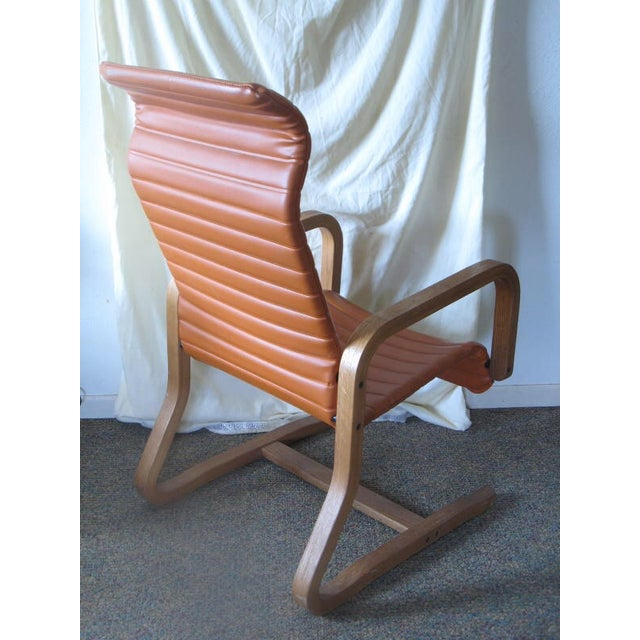 Thonet Oak Laminated High Back Lounge Chair - Image 3 of 11