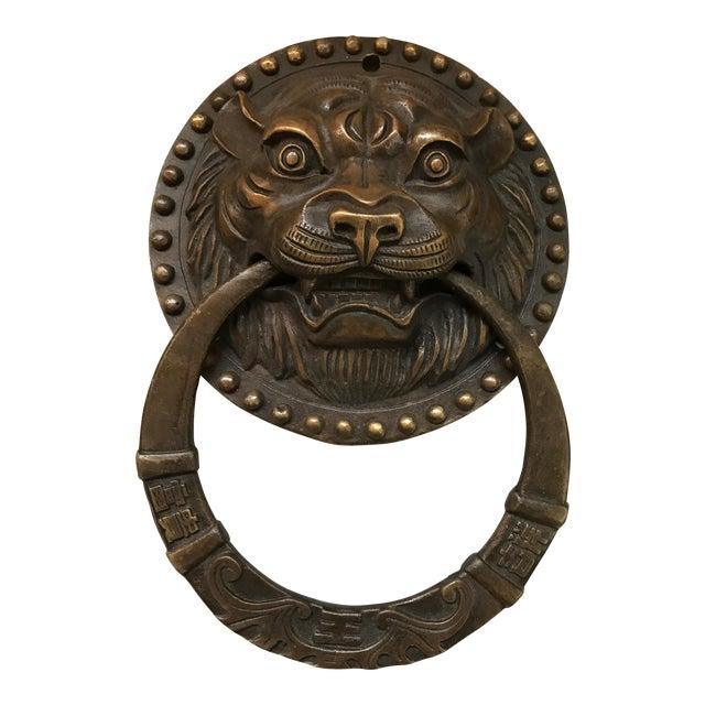 Asian Tiger Brass Door Knocker - Image 1 of 8
