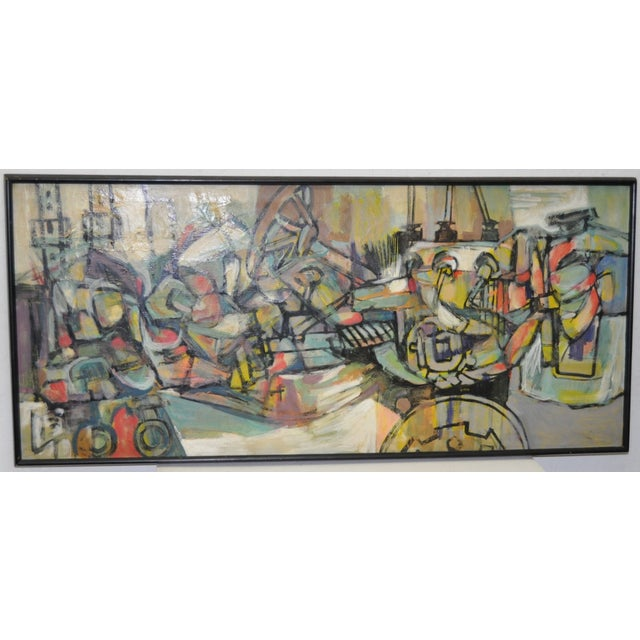 1970's Vintage Abstract Painting - Image 2 of 5