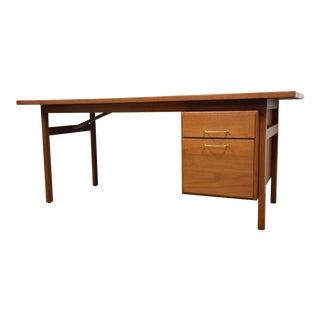Jens Risom Mid-Century Walnut Desk
