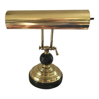 Vintage Deco Brass & Marble Desk Lamp