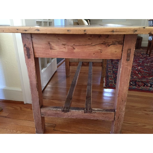 Kitchen Table And Chairs Ireland: Antique 19th Century Irish Pine Farm Dining Table