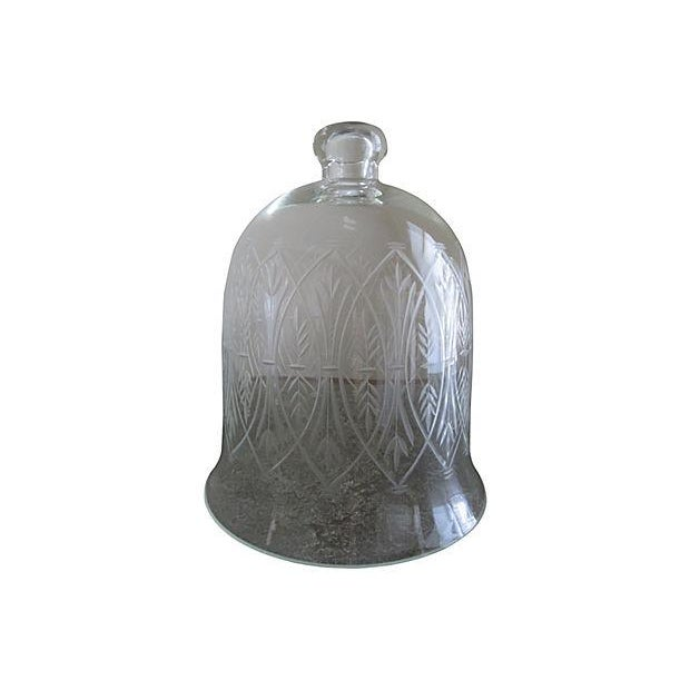 Vintage Etched Glass Nesting Domes - S/2 - Image 4 of 8