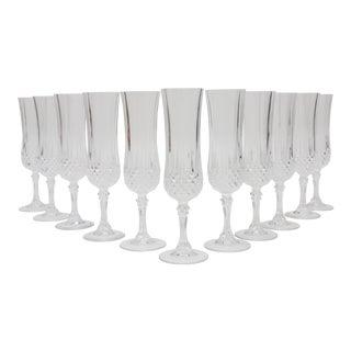 Vintage Crystal Champagne Glasses - Set of 11