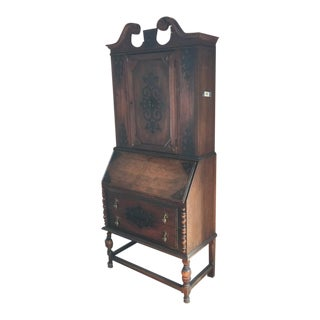 Antique Fall-Front Secretary Desk