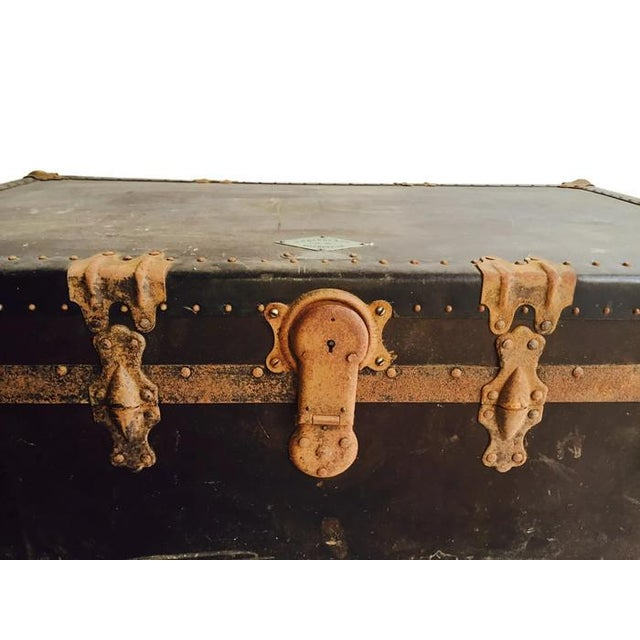 """Antique Steamer Trunk Pirate Chest 35"""" - Image 3 of 7"""