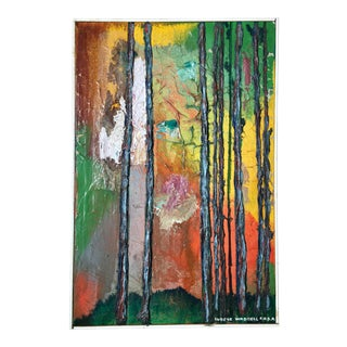 "Eugene Waddell ""Trees in a Forrest"" Oil on Canvas Painting"