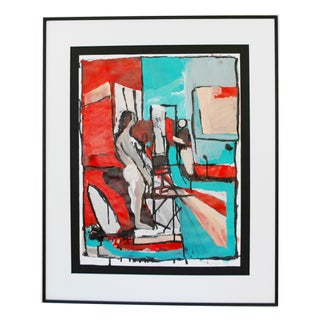 Original Abstract Acrylic Figural Painting