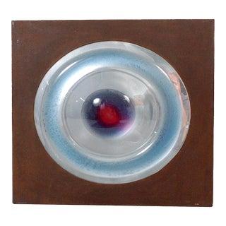 "Wall Art Piece ""Aura Third Eye"" Signed Seyfried, 1980"