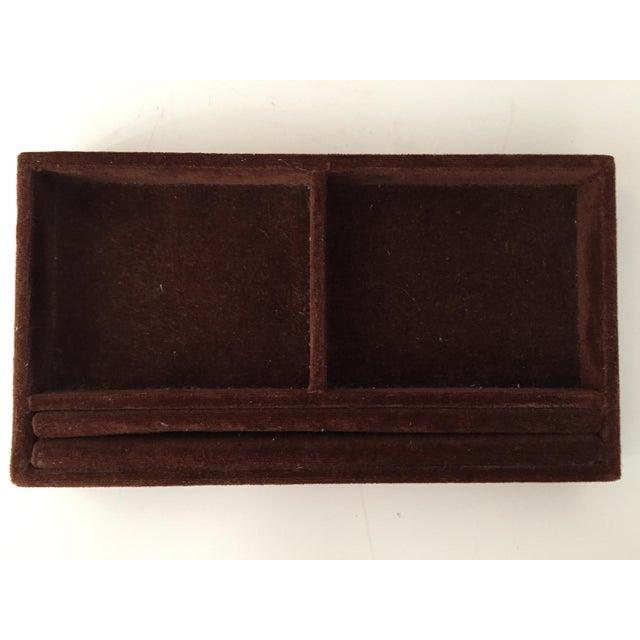 Italian Velvet Jewelry Box & Tassel Key-1965 - Image 8 of 10