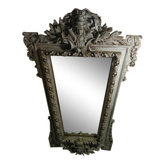 Gothic Large Wood Glass Mirror Movie Prop