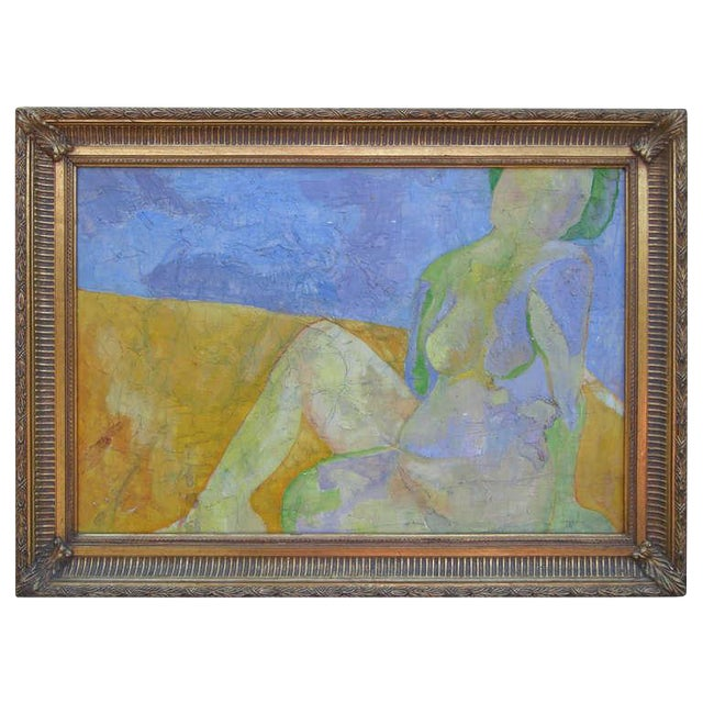 Image of Exquisite Abstract Female in Repose Painting By J.Dahli