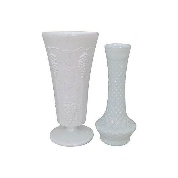 Milk Glass Bowls & Vases- Set of 6 - Image 5 of 6