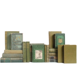 Earthy Green Classic Books - Set of 20