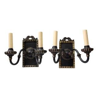 1920s Vintage Tudor Sconces - a Pair