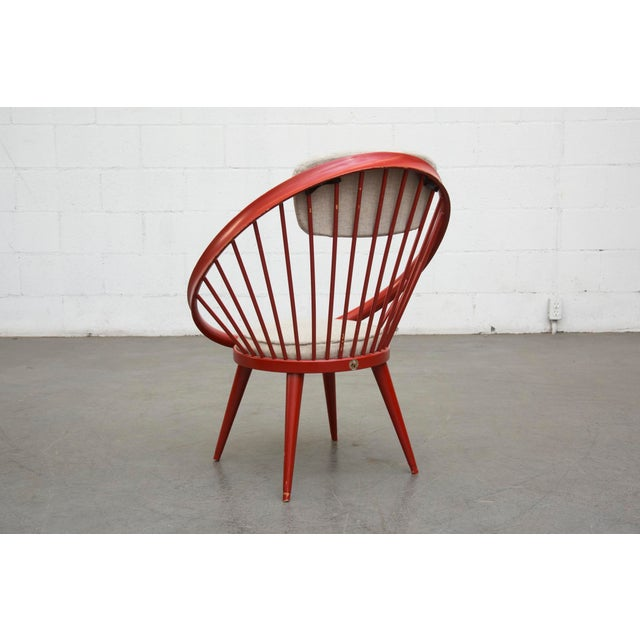 Swedish Red Hoop Lounge Chair - Image 5 of 11