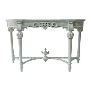 Ornate Lacquered Console Table