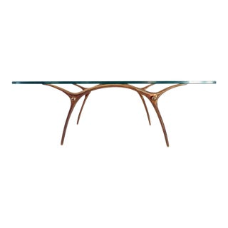 Kouloufi Coffee Table in Glass an Polished Brass, Brussels, 1958