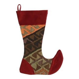 Large Kilim Christmas Stocking | North Pole