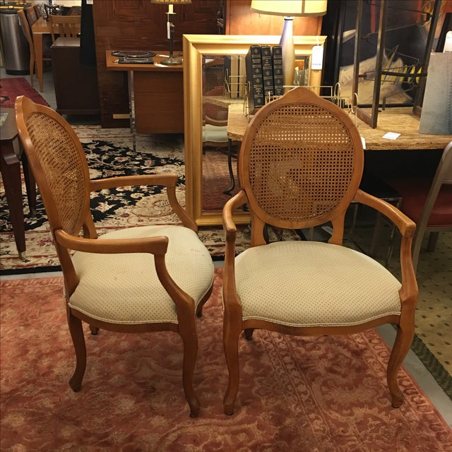 Cane Back Armchairs- A Pair - Image 5 of 10