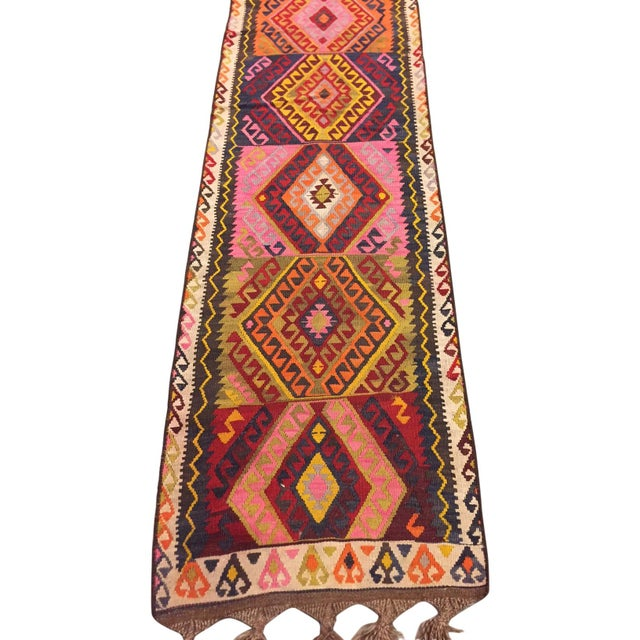 Vintage Kilim Runner - 2′5″ × 12′4″ - Image 2 of 5