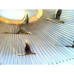 Image of C. Jere Wall Sculpture Birds in Flight on Sunburst