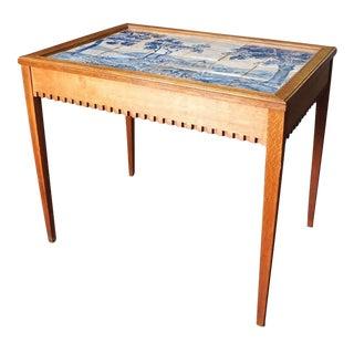 Danish Tile Top Tea Table