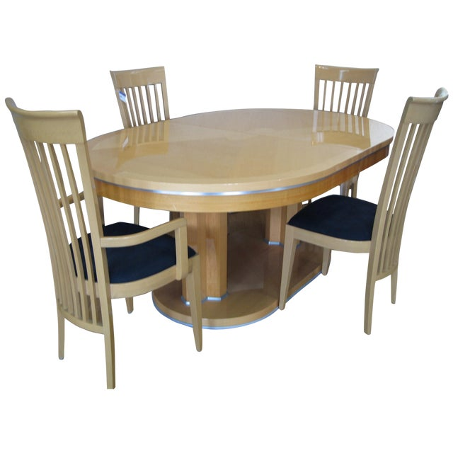 Contemporary Italian Dining Set With 8 Chairs - Image 1 of 4