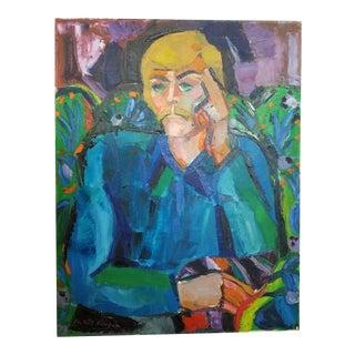 "1972 Cristina Hanigan ""Father Nick"" Painting"