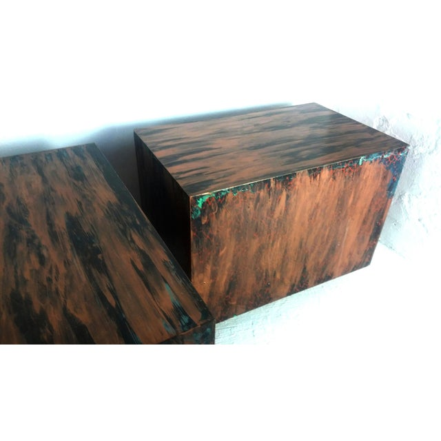 Milo Baughman Style Mid-Century End Tables - a Pair - Image 4 of 9