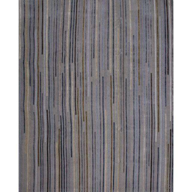 """Tiny Stripes"" Rug by Emma Gardner - Image 5 of 5"