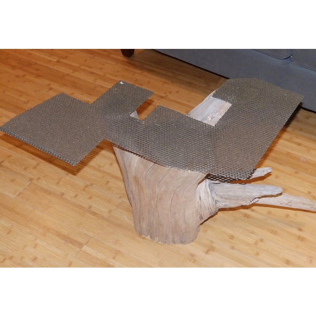 Verina Baxter Cedar Wood and Glass Coffee Table - Image 6 of 7