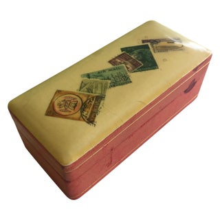 Vintage Leather Stamp Box
