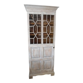 White Rustic Wood Cabinet