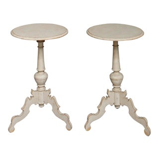 Pair of Antique Swedish Pedestal Tables (#61-29)